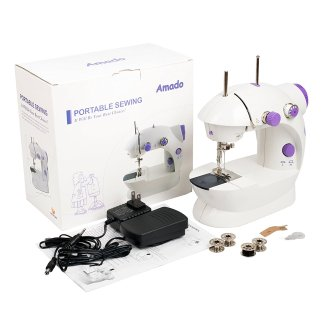 Portable Sewing Machine, Amado Professional Handheld Sewing Machine with Adjustable 2-Speed Double Thread